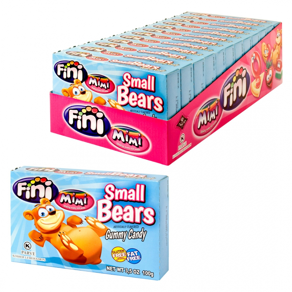 Mimi's Sweets Small Bears Box Soft, chewy and bright gummy bears in assorted flavors.