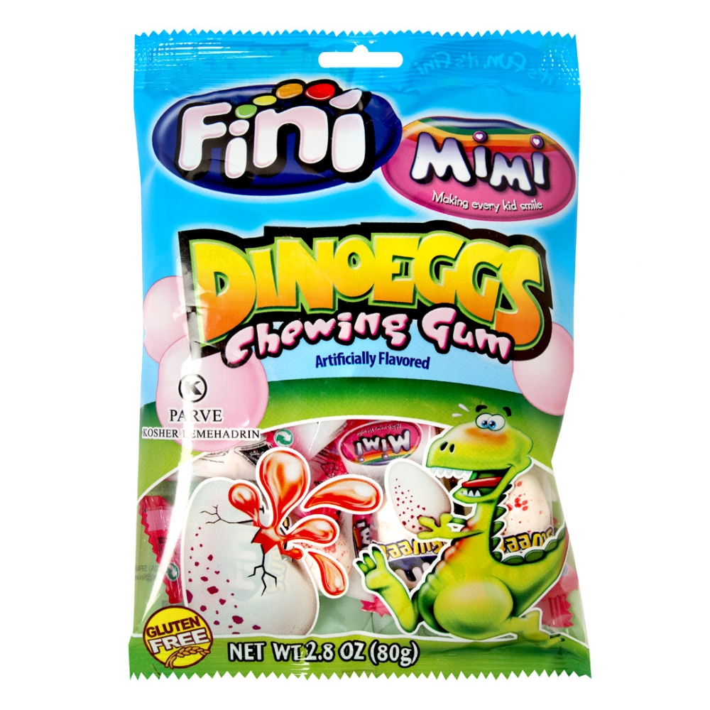Mimi's Sweets Dino Eggs Gum Indiv. Wrap Go on a wild adventure and discover some prehistoric eggs!