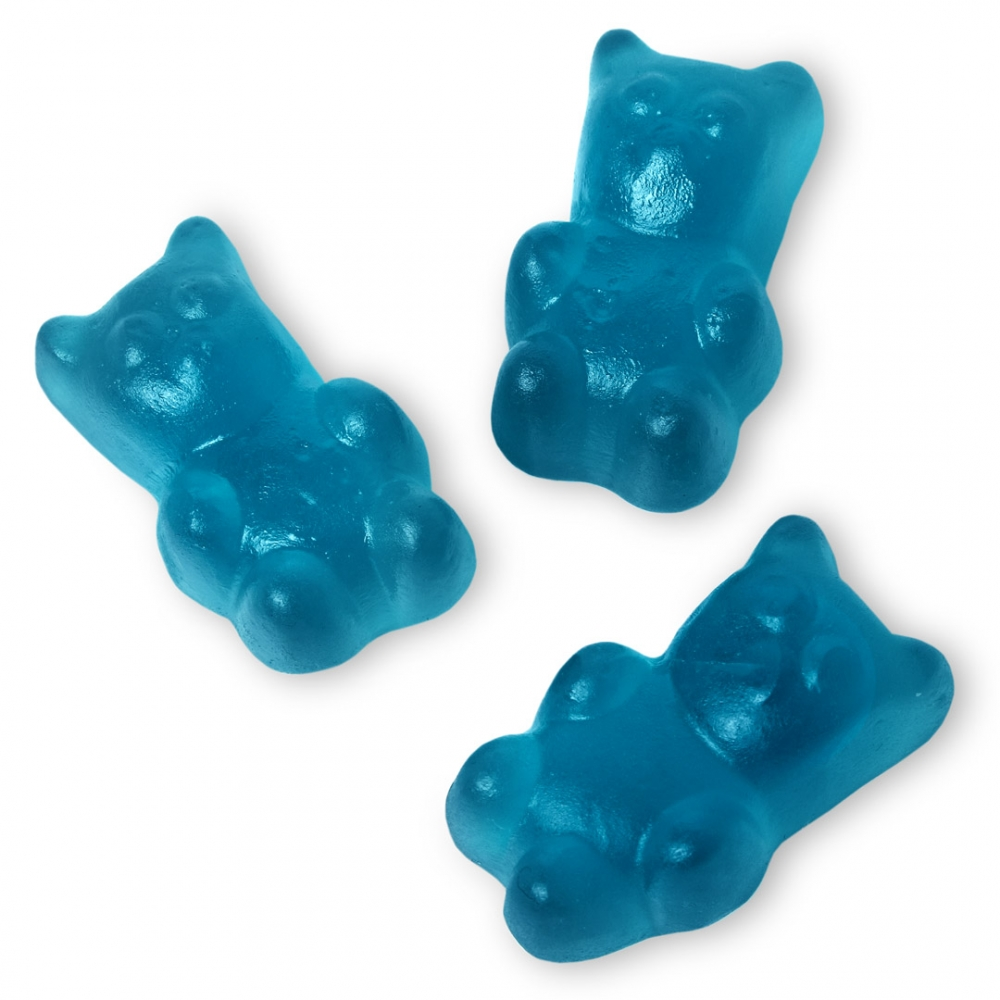 Mimi's Sweets Clear Blue Bears Medium Fresh and chewy gummy bears in a new, intense blue!