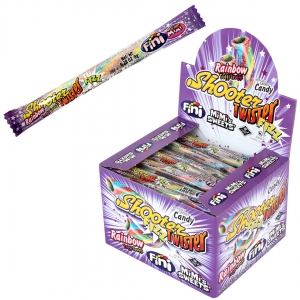 Mimi's Sweets Mini Rainbow Shooter Single Wrap A tornado of flavor - fizzy licorice straw on the go!