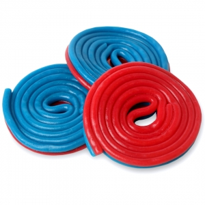 Mimi's Sweets Bicolor Spiro Red-Blue Delicious licorice spirals in two awesome colors!