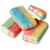 Mimi's Sweets Sour Rainbow Bricks Filled licorice bricks, now in a rainbow of tastes and colors!